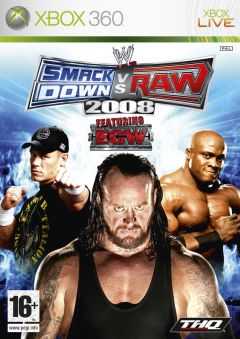 Jaquette de WWE Smackdown Vs. Raw 2008 Xbox 360