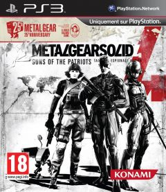 Jaquette de Metal Gear Solid 4 : Guns of the Patriots (25th Anniversary) PlayStation 3