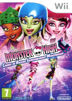 Jaquette de Monster High : Course de Rollers Incroyablement Monstrueuse Wii