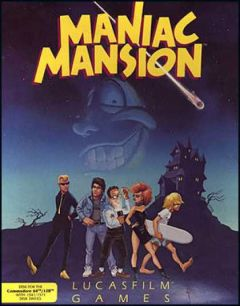 Jaquette de Maniac Mansion Commodore 64
