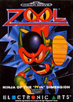 "Jaquette de Zool : The ninja of the ""Nth"" dimension Megadrive"