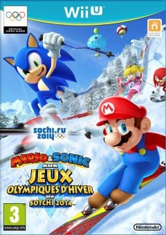 Jaquette de Mario & Sonic aux Jeux Olympiques de Sotchi 2014 Wii U