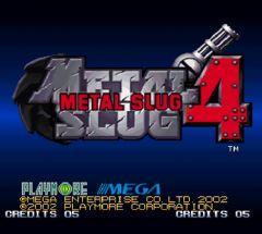 Jaquette de Metal Slug 4 Wii
