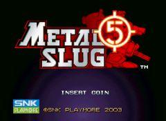 Jaquette de Metal Slug 5 Arcade