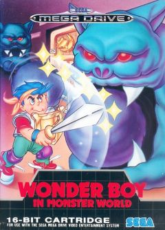 Jaquette de Wonder Boy in Monster World Mega Drive