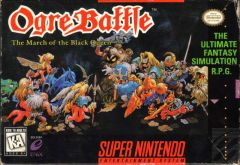 Jaquette de Ogre Battle : the March of the Black Queen Super NES