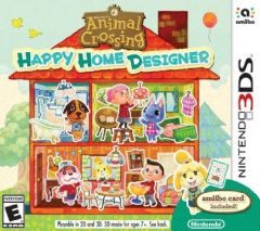 Jaquette de Animal Crossing : Happy Home Designer Nintendo 3DS