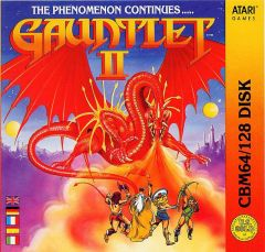 Jaquette de Gauntlet II Commodore 64