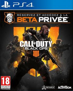 Jaquette de Call of Duty : Black Ops 4 PS4