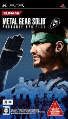 Jaquette de Metal Gear Solid : Portable Ops + PSP