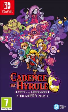 Jaquette de Cadence of Hyrule - Crypt of the NecroDancer Featuring The Legend of Zelda Nintendo Switch