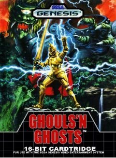 Jaquette de Ghouls'n Ghosts Mega Drive