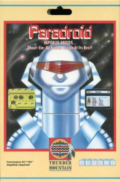Jaquette de Paradroid Commodore 64