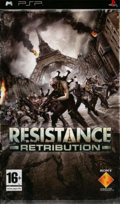 Jaquette de Resistance Retribution PSP
