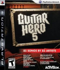 Jaquette de Guitar Hero 5 PlayStation 3