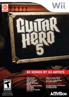 Jaquette de Guitar Hero 5 Wii