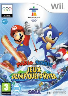 Jaquette de Mario & Sonic aux Jeux Olympiques d'Hiver Wii