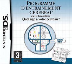 Jaquette de Programme d'Entraînement Cérébral du Dr. Kawashima : quel âge a votre cerveau ? DS