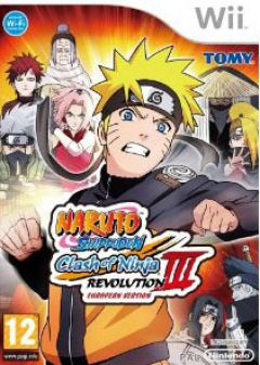 Jaquette de Naruto Shippuden : Clash of the Ninja Revolution 3 Wii