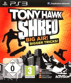 Jaquette de Tony Hawk : Shred PlayStation 3
