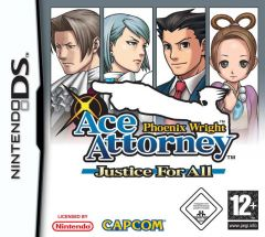 Jaquette de Phoenix Wright : Ace Attorney Justice For All DS