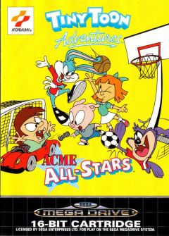 Jaquette de Tiny Toon Adventures : ACME All-Stars Megadrive