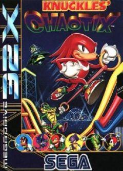 Jaquette de Knuckles' Chaotix Megadrive 32X