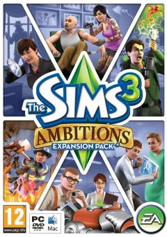 Jaquette de Les Sims 3 : Ambitions Mac