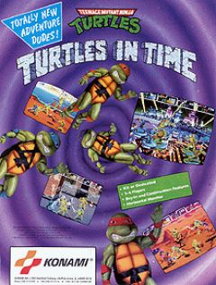 Jaquette de Teenage Mutant Ninja Turtles : Turtles in Time Arcade