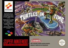 Jaquette de Teenage Mutant Ninja Turtles : Turtles in Time Super NES