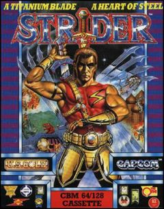 Jaquette de Strider (original) Commodore 64