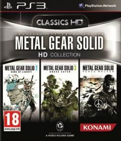 Jaquette de Metal Gear Solid HD Collection PS3