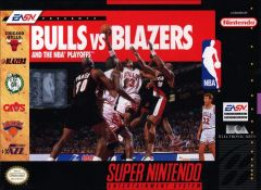 Jaquette de Bulls versus Blazers and the NBA Playoffs Super NES