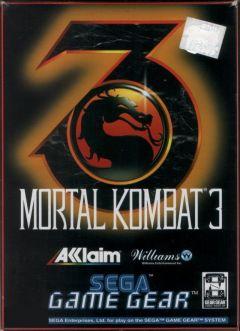 Jaquette de Mortal Kombat 3 GameGear