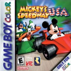 Jaquette de Mickey's Speedway USA Game Boy Color