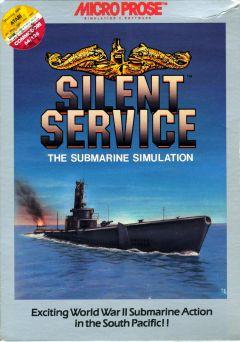 Jaquette de Silent Service Commodore 64