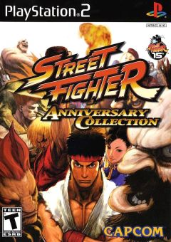 Jaquette de Street Fighter Anniversary Collection PlayStation 2