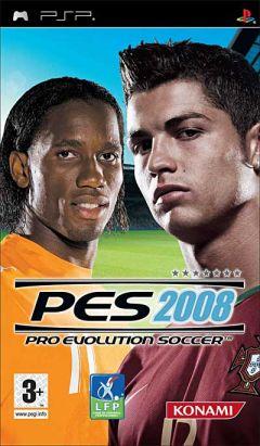 Jaquette de PES 2008 PSP