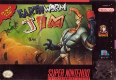 Jaquette de Earthworm Jim Super NES