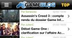 Application Gameblog iPhone/iPod