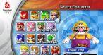 Voici la liste des personnages jouables, avec Wario le relou cupide en tête.