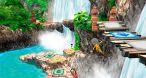Image Wii Party U : L'île comporte moult embûches, sans compte les défis face aux porte où l'on doit suivre un chemin du bout du doigt en tenant le GamePad à l'envers.