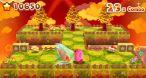 Une petite flèche facilite la visée dans les Défis 3D de Kirby.