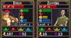 Dans la version DS, les informations des personnages apparaissent en haut de l'écran.