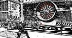 Le premier défi bain de sang du jeu : une turbine d'A320, des couillons légers, vous devinez la suite.