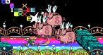 Une warpzone qui rappelle la Rainbow Road de Mario Kart.