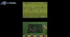 En haut, le match, en bas, l'aspect stratégique à gérer de manière tactile.