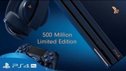 vidéo : PS4 Pro 500 millions Édition Limitée