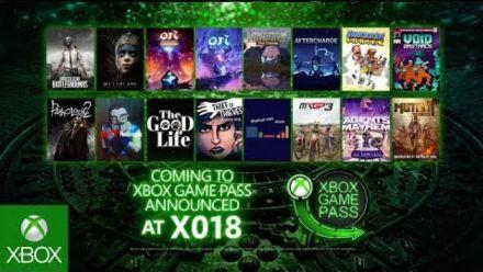 vidéo : X018 : Annonces Xbox Game Pass