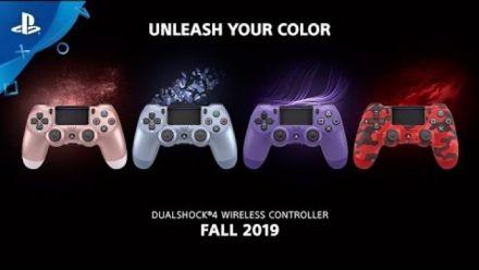 vidéo : PS4 : 4 nouveaux coloris de Dual Shock 4